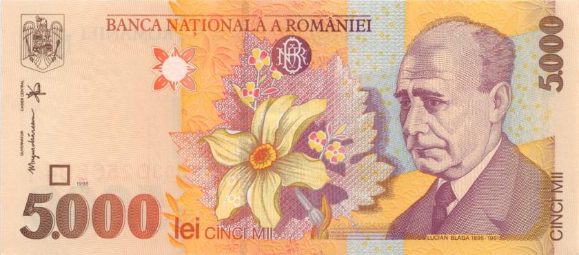 Romania P107a 5.000 Lei 1998 (2000) UNC-