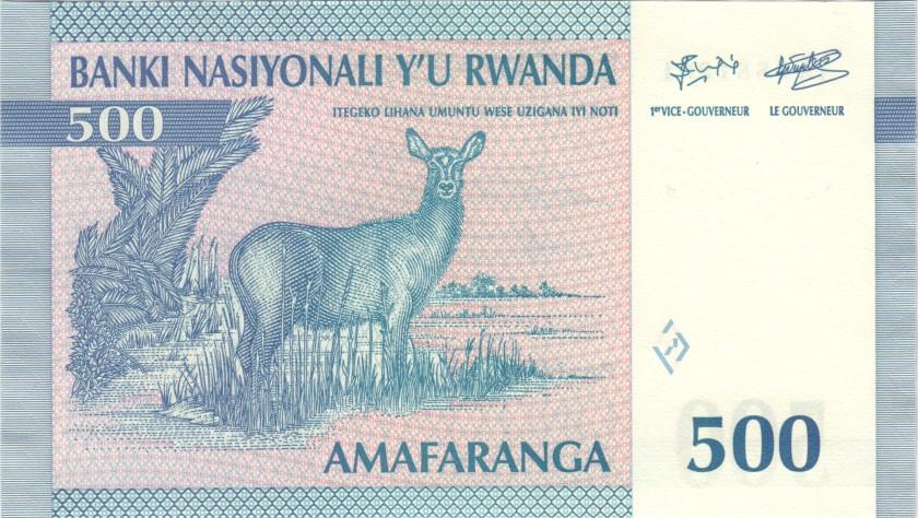 Rwanda P23 500 Francs 1994 UNC