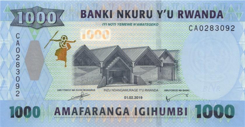 Rwanda P39 1.000 Francs / Amafaranga 2019 UNC