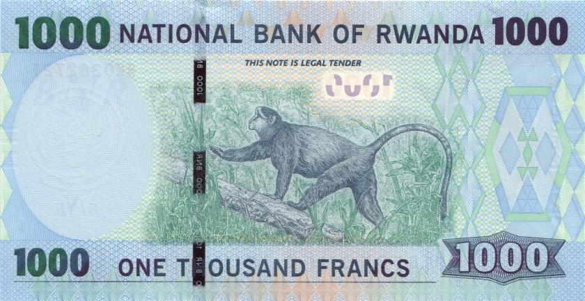 Rwanda P39 1.000 Francs / Amafaranga 2015 UNC