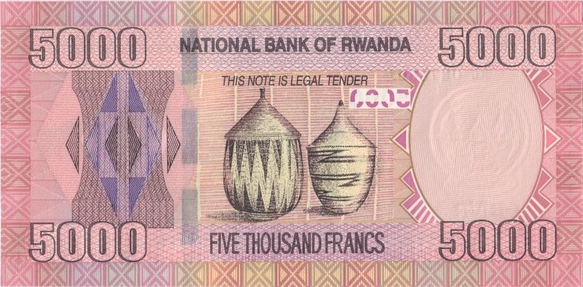 Rwanda P41 5.000 Francs / Amafaranga 2014 UNC