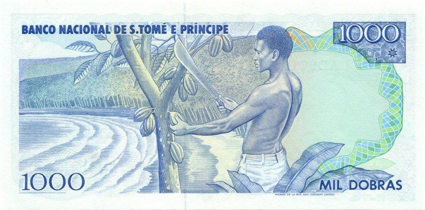 Sao Tome and Principe P62 1.000 Dobras 1989 UNC