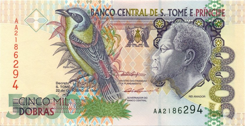 Sao Tome and Principe P65b 5.000 Dobras 1996 UNC