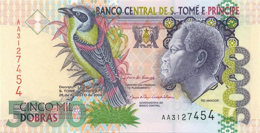 Sao Tome and Principe P65c 5.000 Dobras 2004 UNC