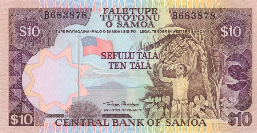 Samoa P27 10 Tala 1985 UNC