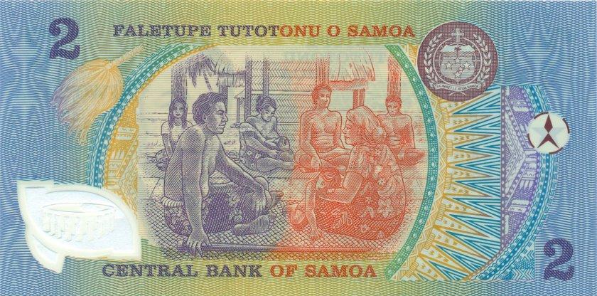 Samoa P31e 2 Tala 1990 UNC