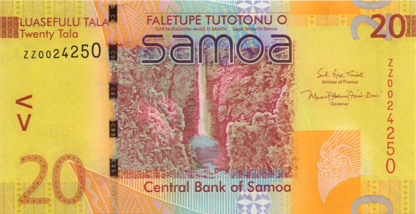 Samoa P40cr REPLACEMENT 20 Tala 2017 UNC
