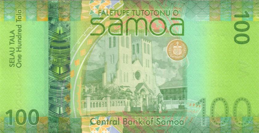 Samoa P44br REPLACEMENT 100 Tala 2017 UNC