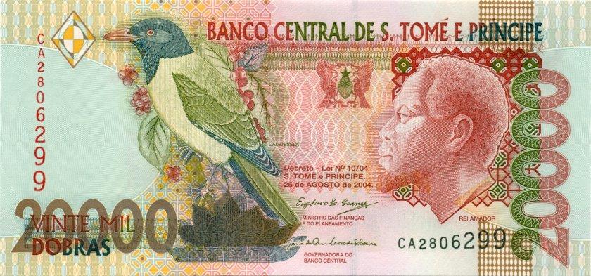 Sao Tome and Principe P67c 20.000 Dobras 2004 UNC