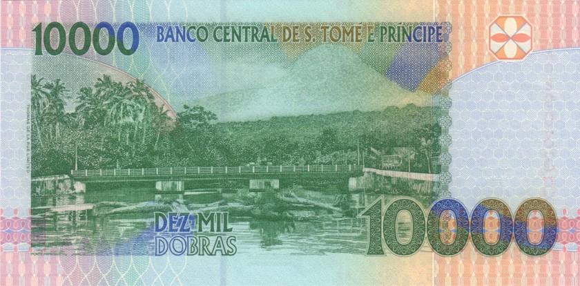 Sao Tome and Principe P66a 10.000 Dobras 1996 UNC