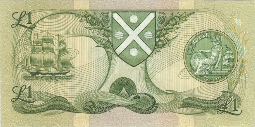 Scotland P111g 1 Pound Sterling 1988 UNC