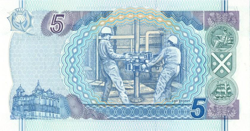 Scotland P119b 5 Pounds Sterling 1996 UNC