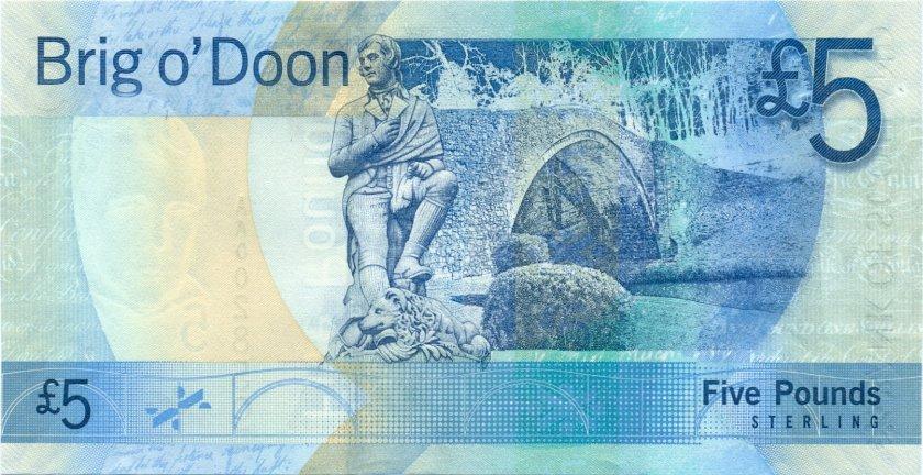 Scotland P124a 5 Pounds Sterling 2007 UNC