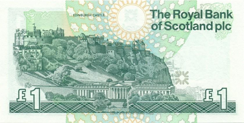 Scotland P351c 1 Pound Sterling 1996 UNC