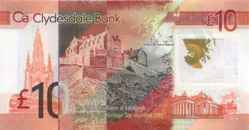 Scotland P229Q 10 Pounds Sterling 2017 UNC