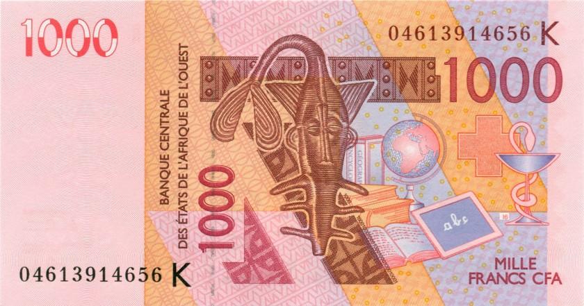 West African States Senegal P715Kb 1.000 Francs 2004 UNC