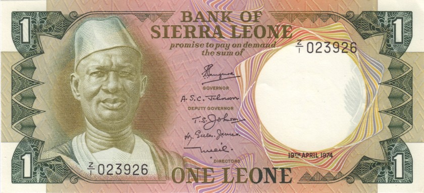 Sierra Leone P5ar REPLACEMENT 1 Leone 1974