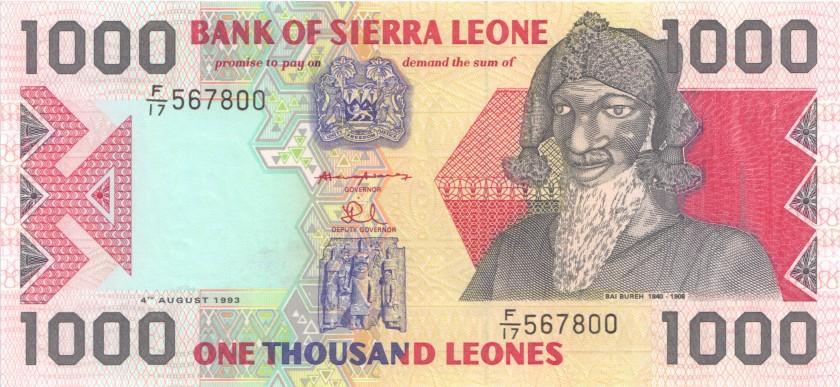 Sierra Leone P20a 1.000 Leones 1993 UNC