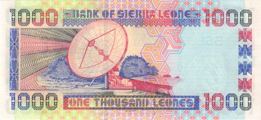 Sierra Leone P24a 1.000 Leones 2002 UNC