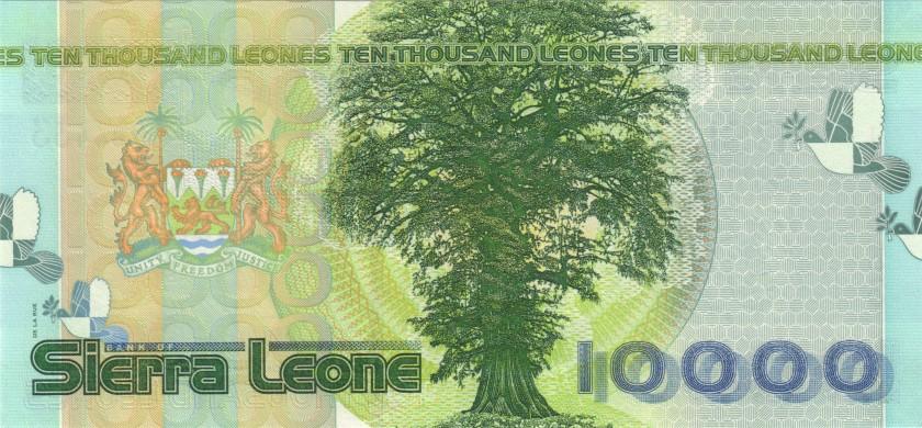 Sierra Leone P29a 10.000 Leones 2004 UNC