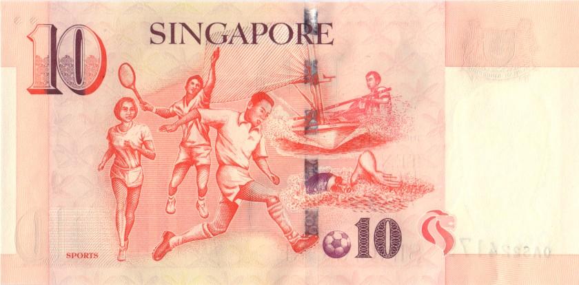 Singapore P40 10 Dollars 1999 UNC