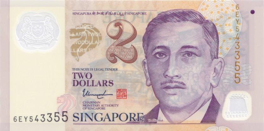 Singapore P46i 2 Dollars 2017 UNC