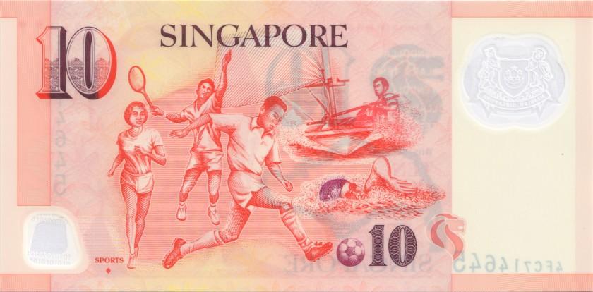 Singapore P48f 10 Dollars 2012 UNC