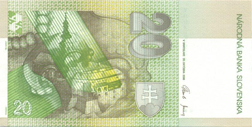 Slovakia P20g 20 Slovak Korunas 2006 UNC