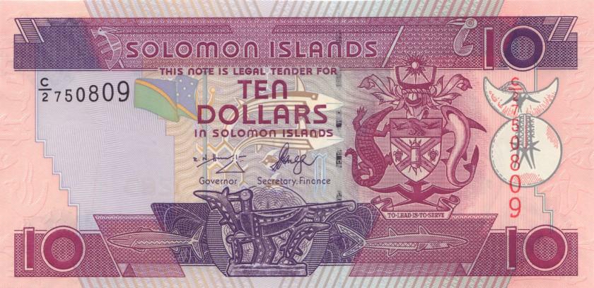 Solomon Islands P27(1) 10 Dollars 2009 UNC