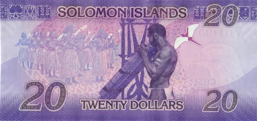 Solomon Islands P34b 20 Dollars 2017 UNC