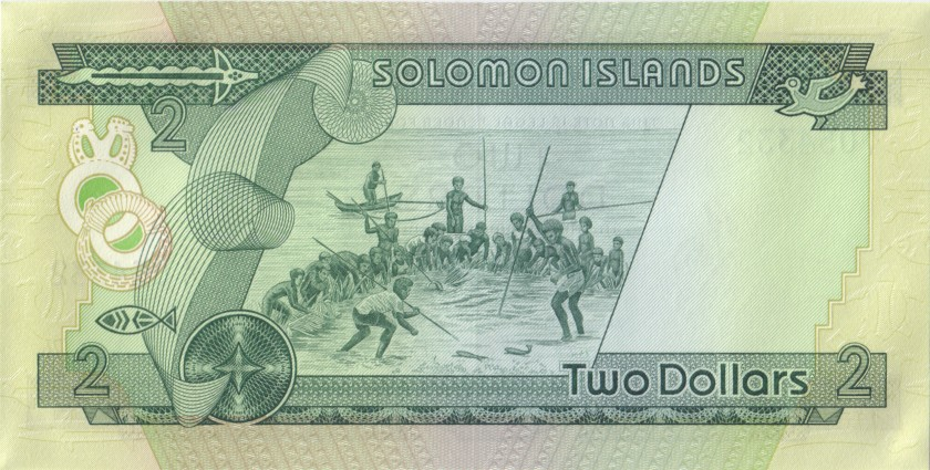 Solomon Islands P5 2 Dollars 1977 UNC