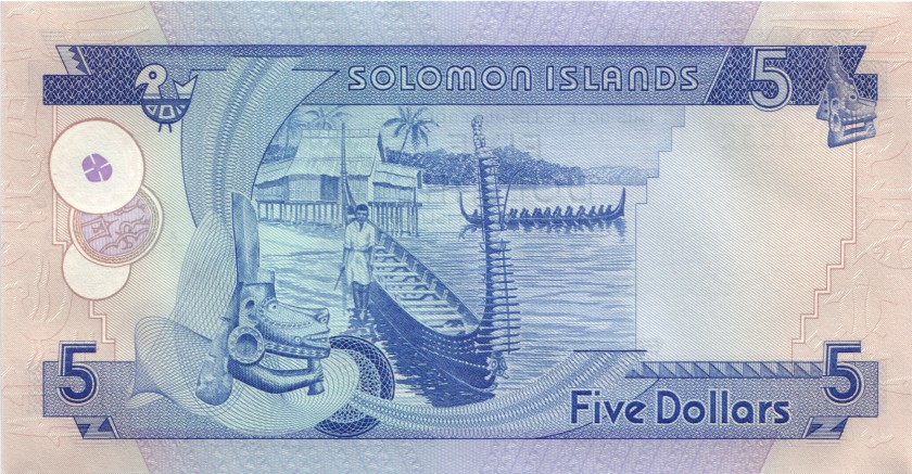 Solomon Islands P6x error 5 Dollars 1977 UNC