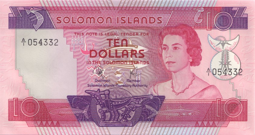 Solomon Islands P7a 10 Dollars 1977 UNC