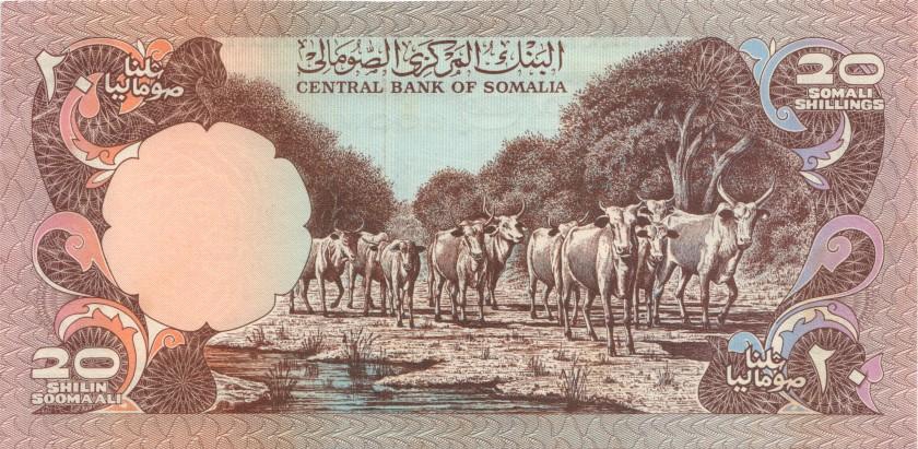 Somalia P27 20 Somali Shillings 1980 UNC