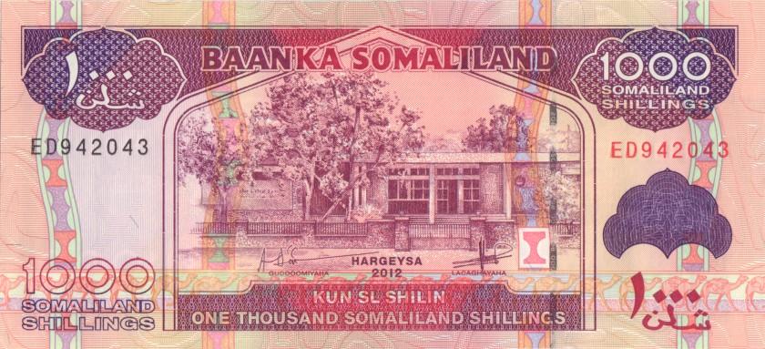 Somaliland P20b 1.000 Somaliland Shillings 2012 UNC
