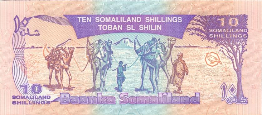 Somaliland P2a 154154 10 Somaliland Shillings 1994 UNC