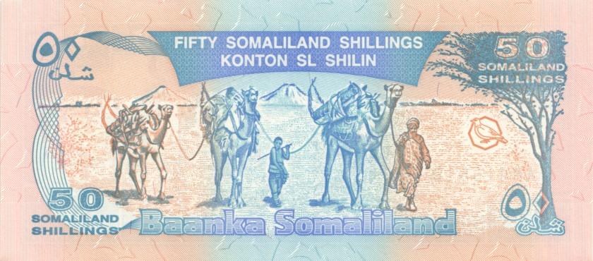 Somaliland P7a 50 Somaliland Shillings 1996 UNC