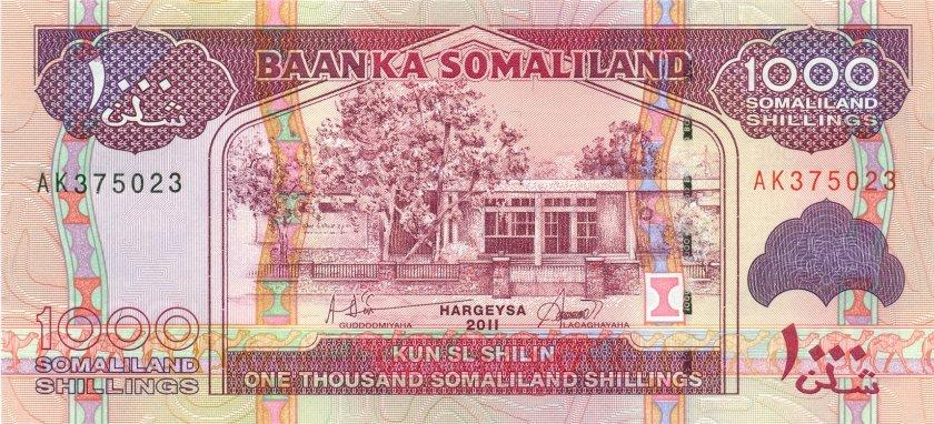 Somaliland P20a 1.000 Somaliland Shillings 2011 UNC