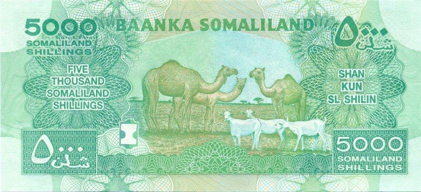 Somaliland P21 5.000 Somaliland Shillings 2011 UNC