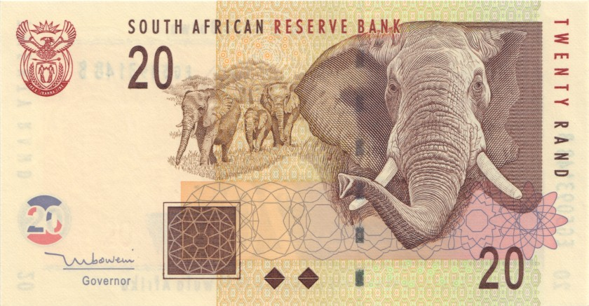 South Africa P129a 20 Rand 2005 UNC