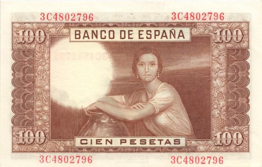 Spain P145 100 Pesetas 1953 UNC