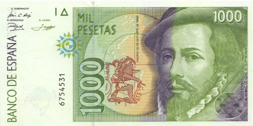 Spain P163 1.000 Pesetas 1992 UNC