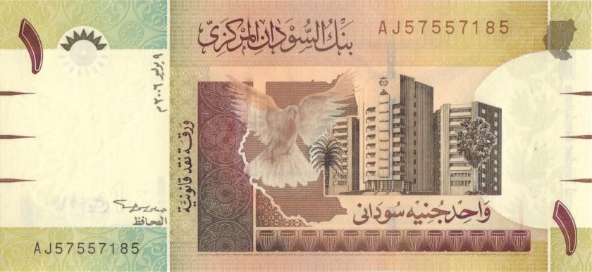 Sudan P64r REPLACEMENT 1 Sudanese Pound 2006 UNC