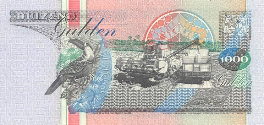 Suriname P141a 1.000 Gulden 1993 UNC