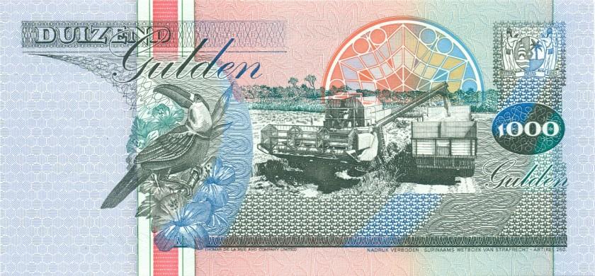 Suriname P141b 1.000 Gulden 1995 UNC