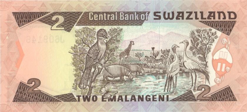 Swaziland P13 2 Emalangeni 1987 UNC