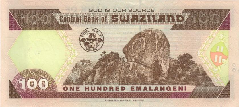 Swaziland P32 100 Emalangeni 2001 UNC