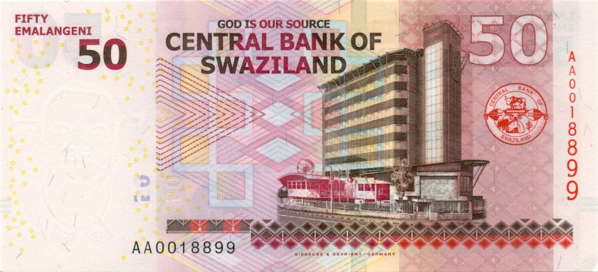 Swaziland P38 50 Emalangeni 2010 UNC