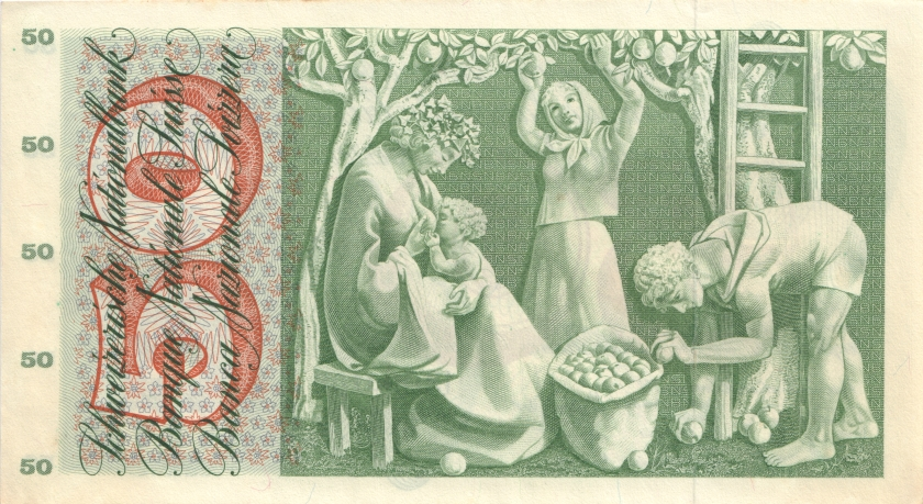 Switzerland P48b(2) 50 1961 Francs