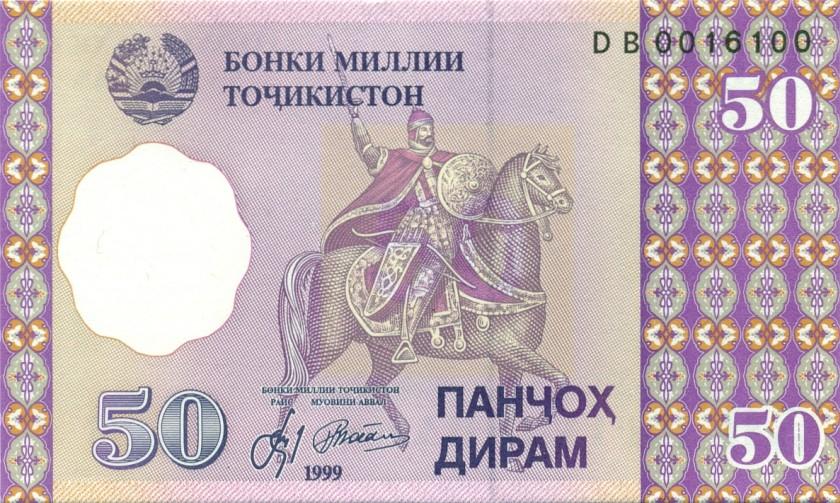 Tajikistan P13 0016100 RADAR 50 Diram 1999 UNC